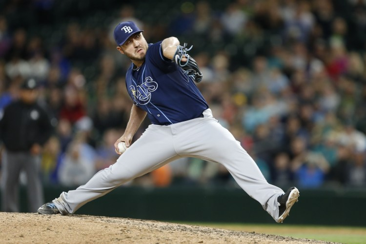 Is Kevin Jepsen still on the trade bubble? Marc Topkin (Tampa Bay Times) seems to think so. (Photo Credit: USA Today Sports)