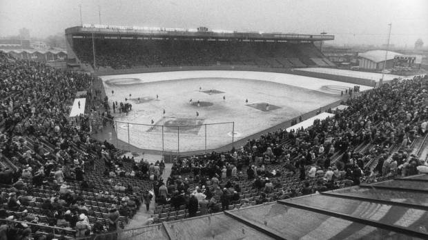 Opening Day 1977, in Toronto.