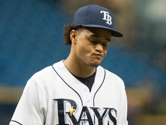 Chris Archer will take the mound in the series opener against the Red Sox tonight. (Photo Credit: Cliff McBride/Getty Images)