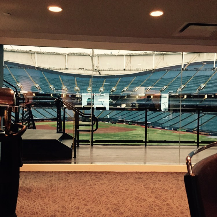 While the Tampa Bay Rays were battling the Red Sox in Boston, this humble blogger was participating in a Rays Radio focus group at the Trop. (Photo Credit: Anthony Ateek/X-Rays Spex)
