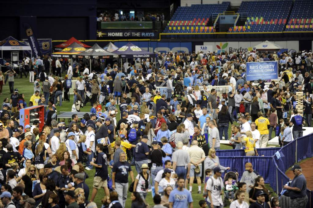 Tampa Bay Rays fans packed into the Trop for their annual Fan Fest. (Photo Credit: TBO.com)