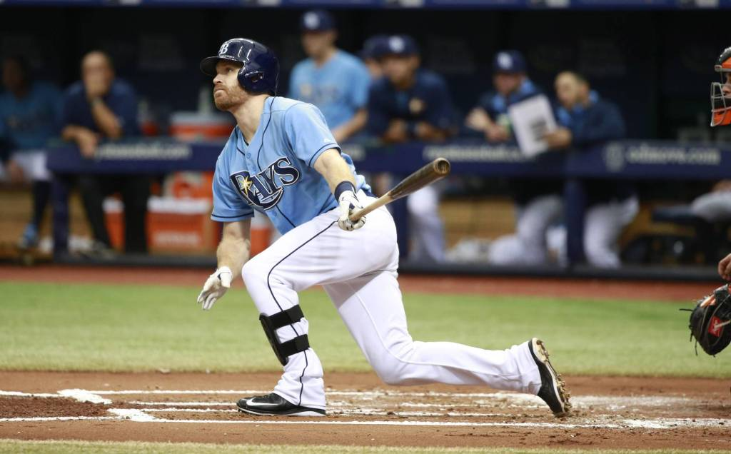 Logan Forsythe (pictured) will hit leadoff for the Tampa Bay Rays. (Photo Credit: Unknown)