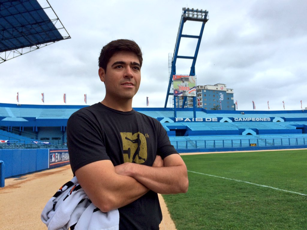 Tuesday's starter, Matt moore, takes in the scene at Estadio Latinoamericano. (Photo Credit: Tampa Bay Rays)