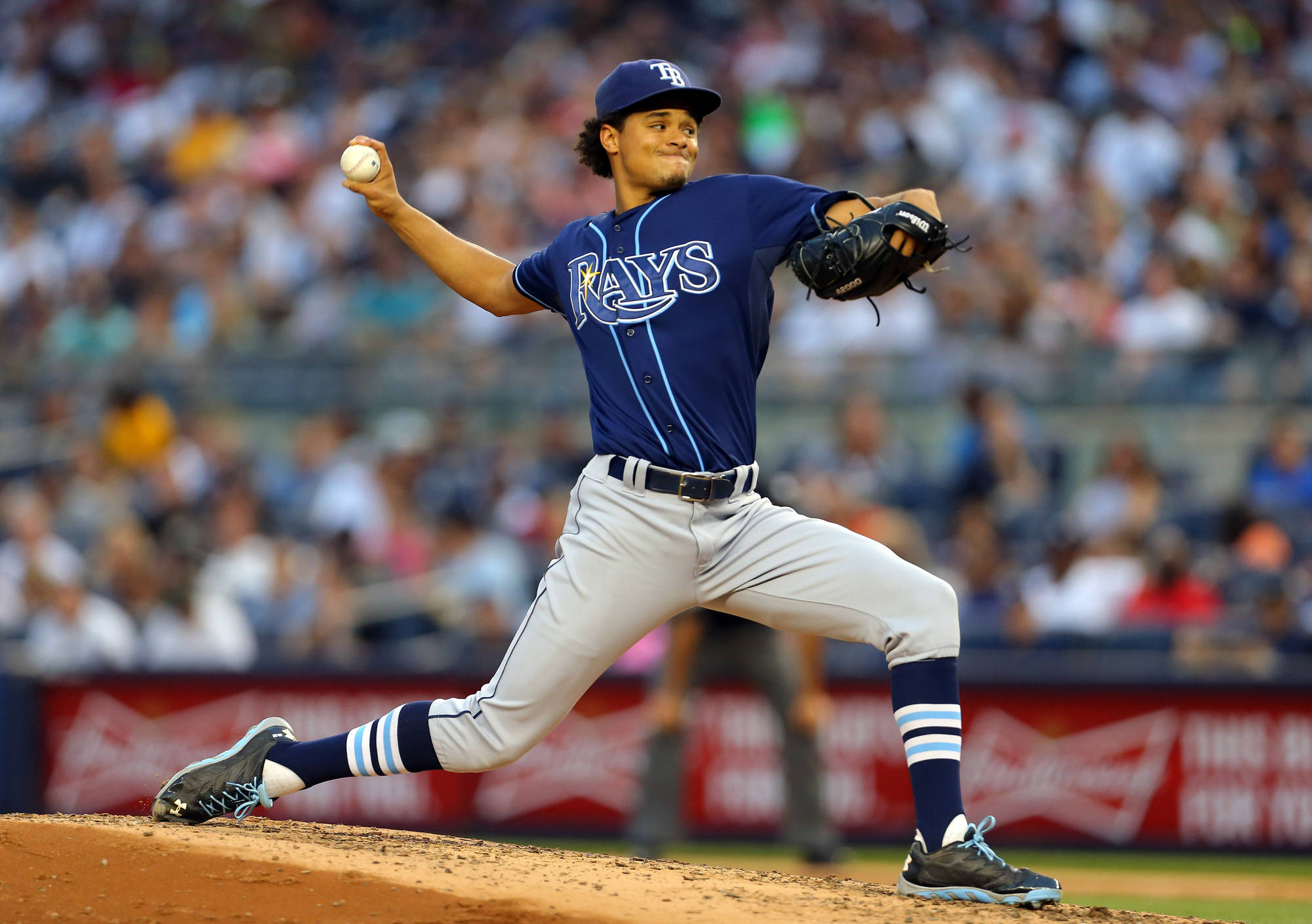 The Tampa Bay Rays traded for Chris Archer in 2011. Might they trade him away five years later? (Photo Credit: Adam Hunger/USA Today Sports)