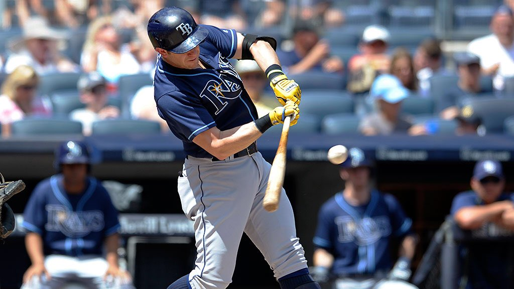 Evan Longoria left New York today ranking first among Yankee Stadium visitors in hits (74) and RBI (47). (Photo Credit: Tampa Bay Rays)