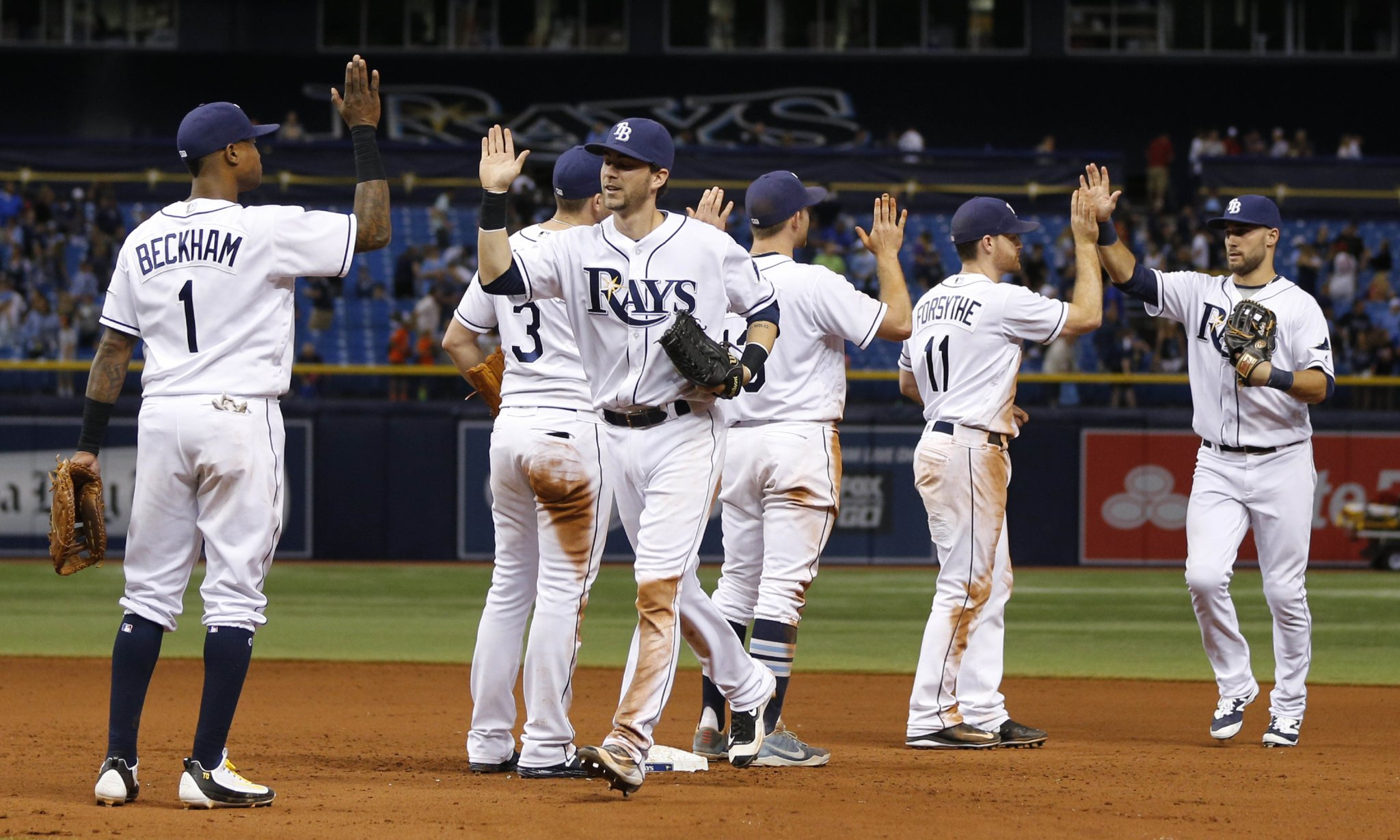 The Tampa Bay Rays improved to 6-3 on the 10-game homestand, and clinched their first winning homestand of the season. (Photo Credit: Tampa Bay Rays)