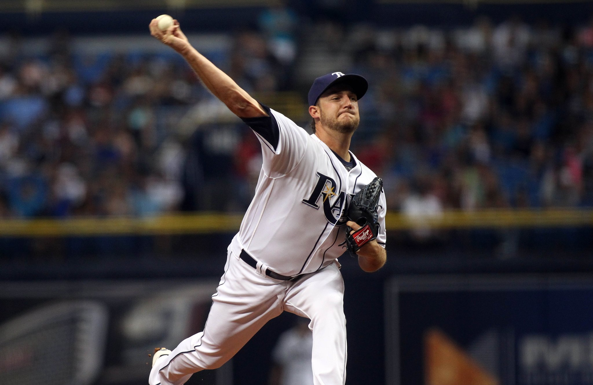 Matt Andriese gets the start Wednesday opposite of Rick Porcello. He's 1-0, 0.00 ERA in three appearances (one start) vs. the Red Sox. (Photo Credit: Tampa Bay Rays)