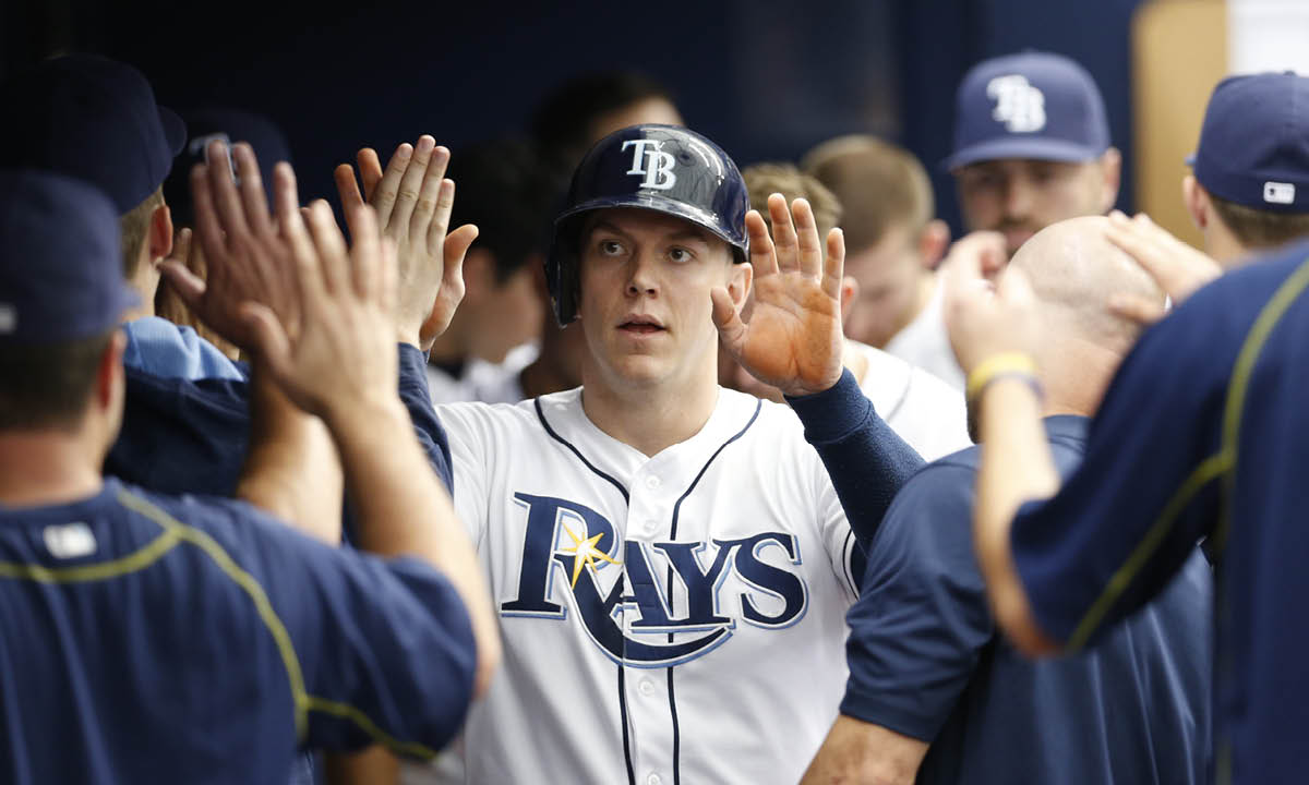 Logan Morrison scored on Corey Dickerson's RBI single on Wednesday, allowing the Rays to tie the series finale with the Orioles at six apiece. (Photo Credit: Tampa Bay Rays)
