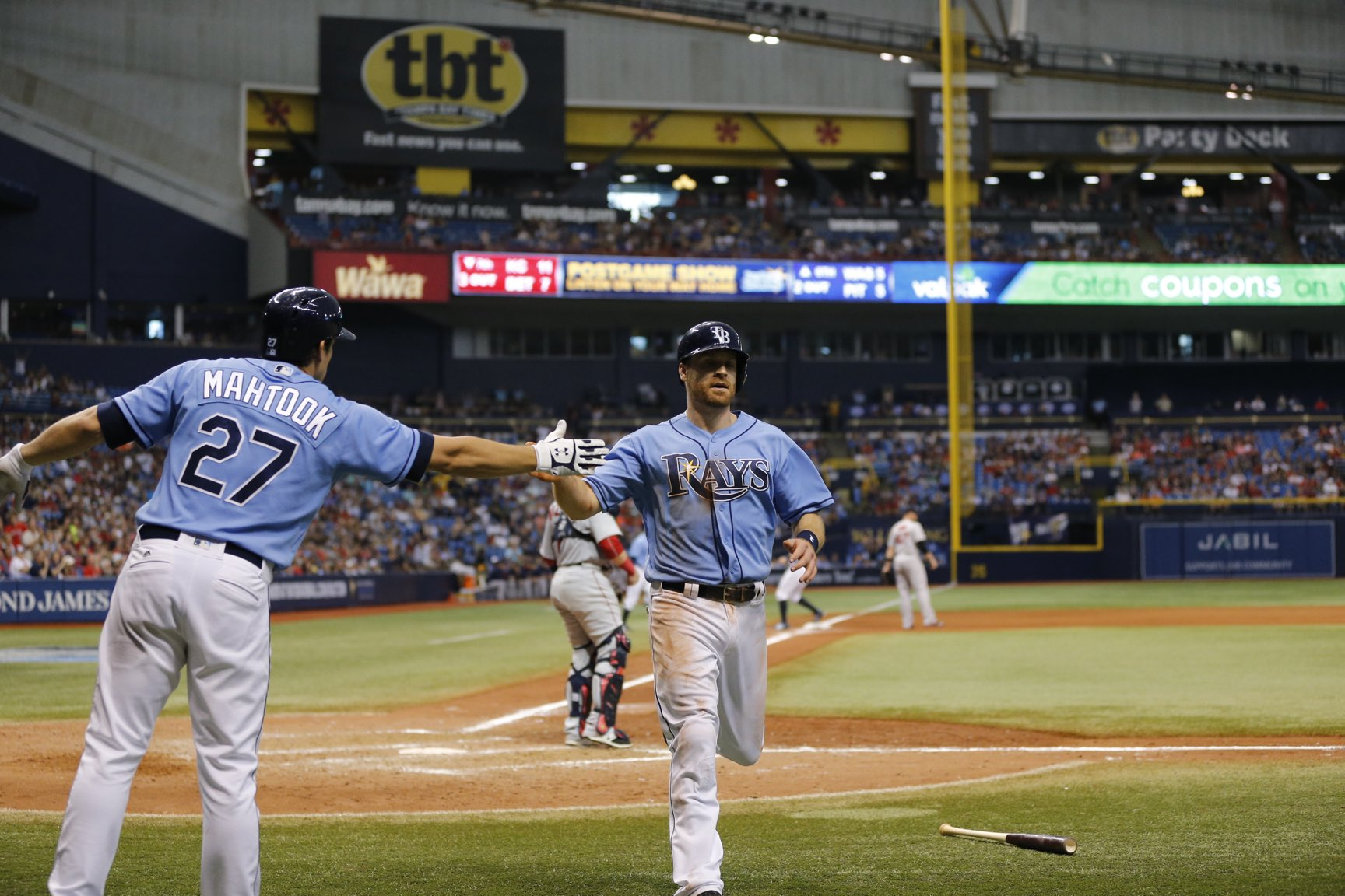 The Rays tied the game in the eighth, yet lost in the 10th of Sunday's home season finale against the Red Sox. (Photo Credit: Tampa Bay Rays)