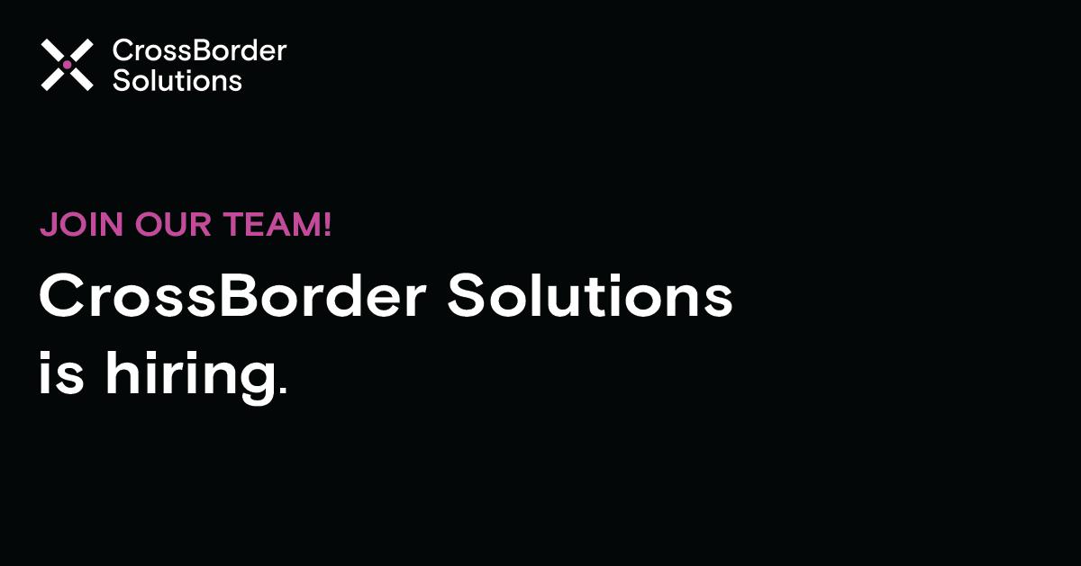 Technical Customer Support Representative at CrossBorder Solutions