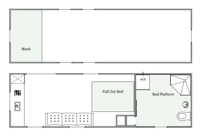 The Breeze Tiny Home Floorplan