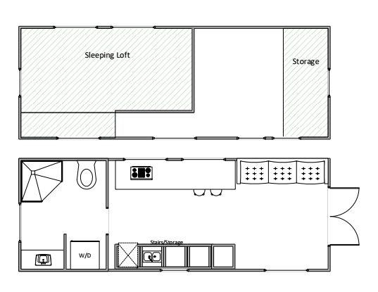 The Current Tiny House Floorplan 1