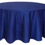 Accordion Taffeta Tablecloths rentals-navy blue