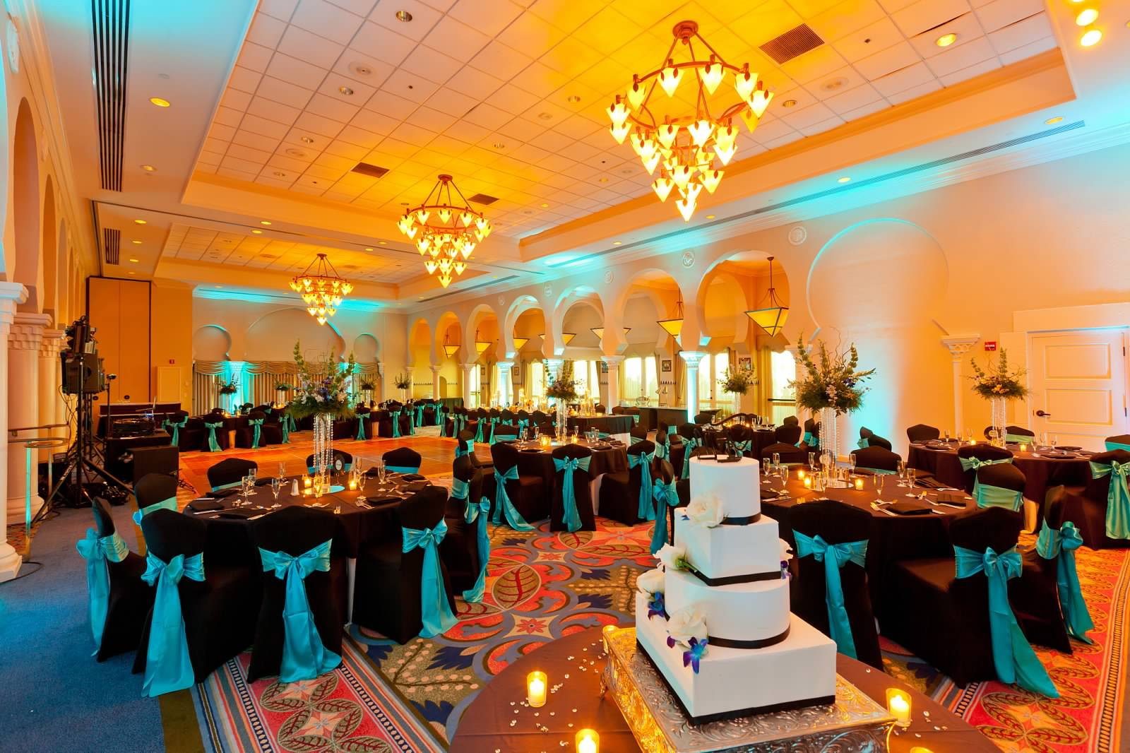 Black and Turquoise reception at Vinoy