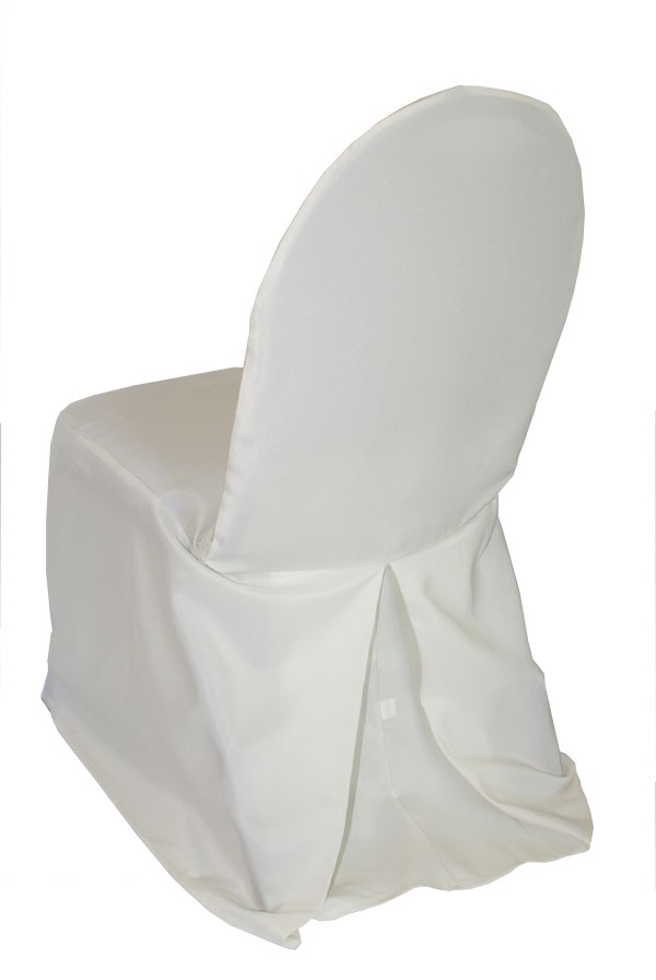 Polyester banquet chair cover rentals Ivory