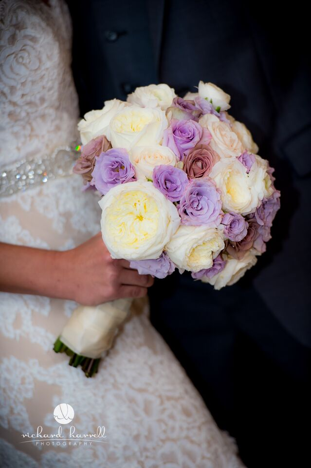 Lavander and white bridal bouquet