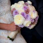 Lavander and white bridal bouquet