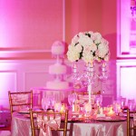 Pink wedding reception at Embassy