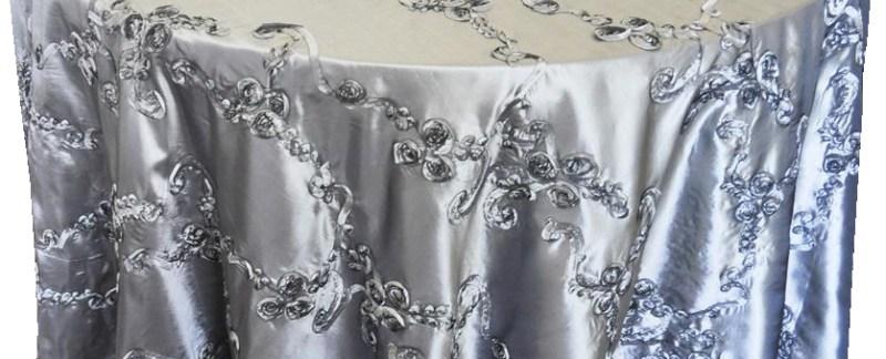 Ribbon taffeta tablecloths