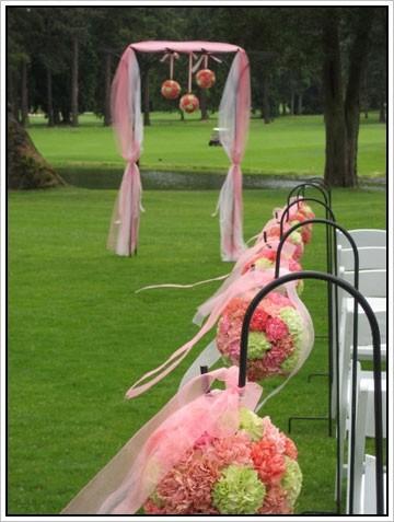 Weddings Ceremonies Pew balls