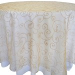 Embroidered Organza Tablecloth rentals Champagne