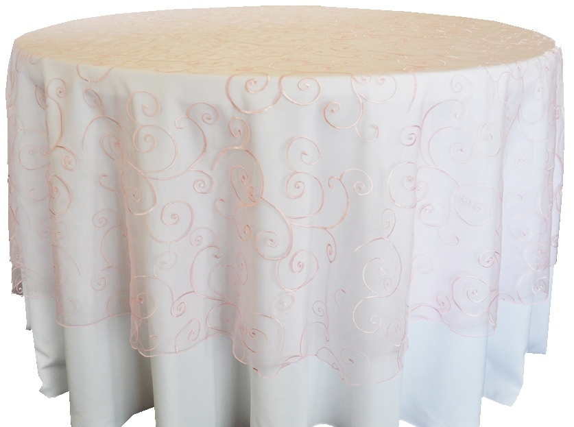 embroidered organza Pink