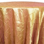 Pintuck tablecloths rentals-Gold