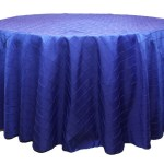Pintuck tablecloths rentals-
