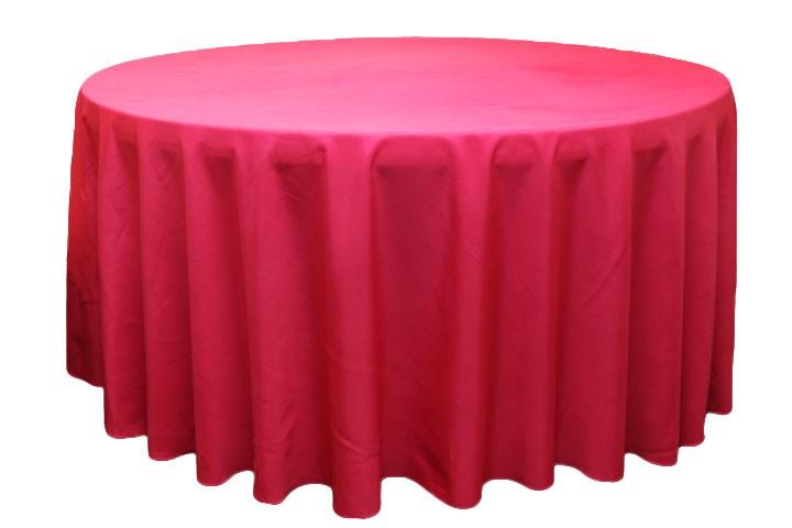 Polyester Tablecloths rentals- fushia