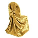 self-tie self-tie chair cover Gold