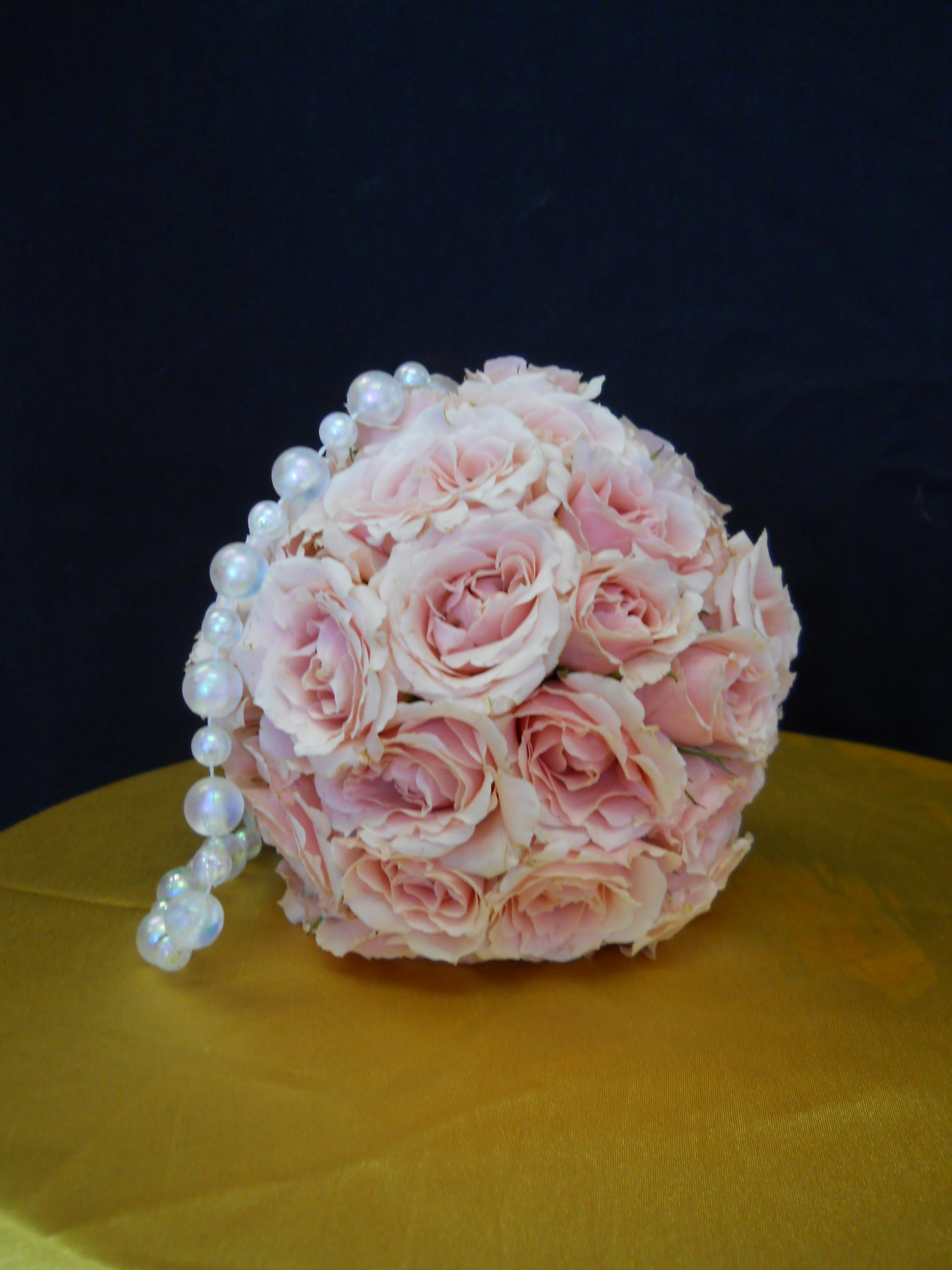Pink roses Pomander Ball