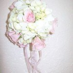 hydrangeas and Pink roses Pomander Ball
