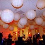 Ceiling paper lanterns decor
