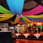 Colorful birthday ceiling drape