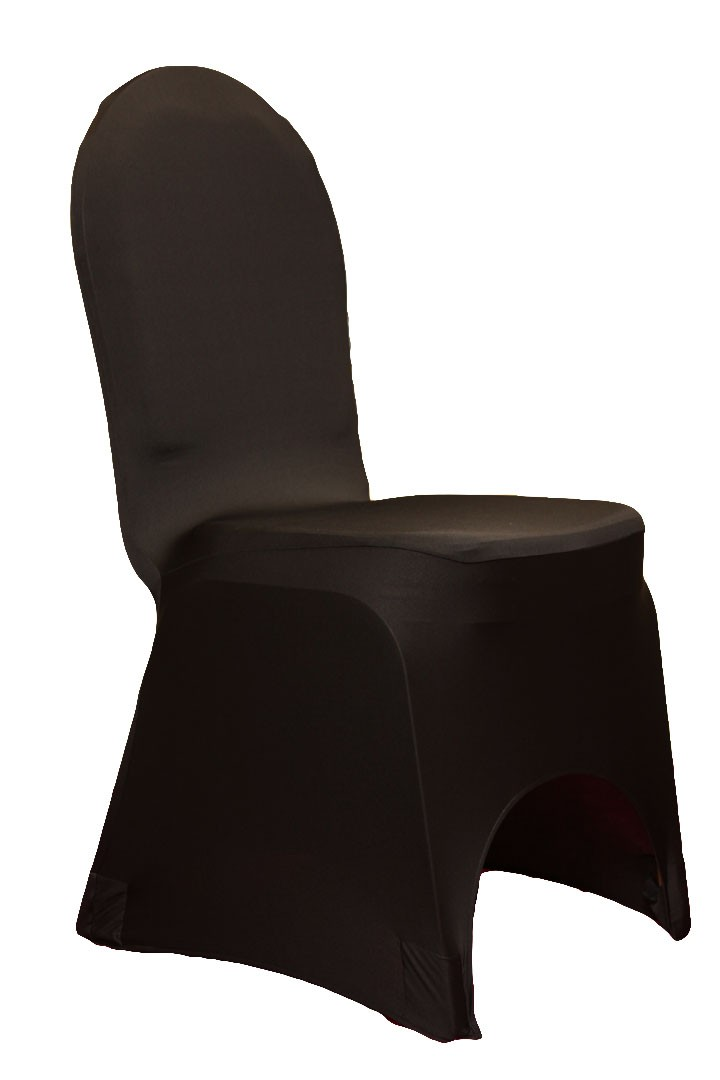 Spandex Chair Covers rentals BLACK