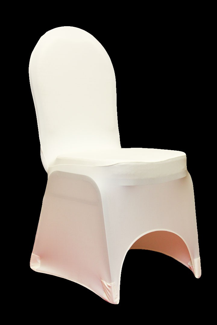 Spandex Chair Covers rentals WHITE