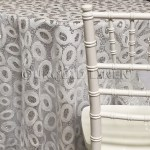 Sienna Tablecloths Rentals Silver /White