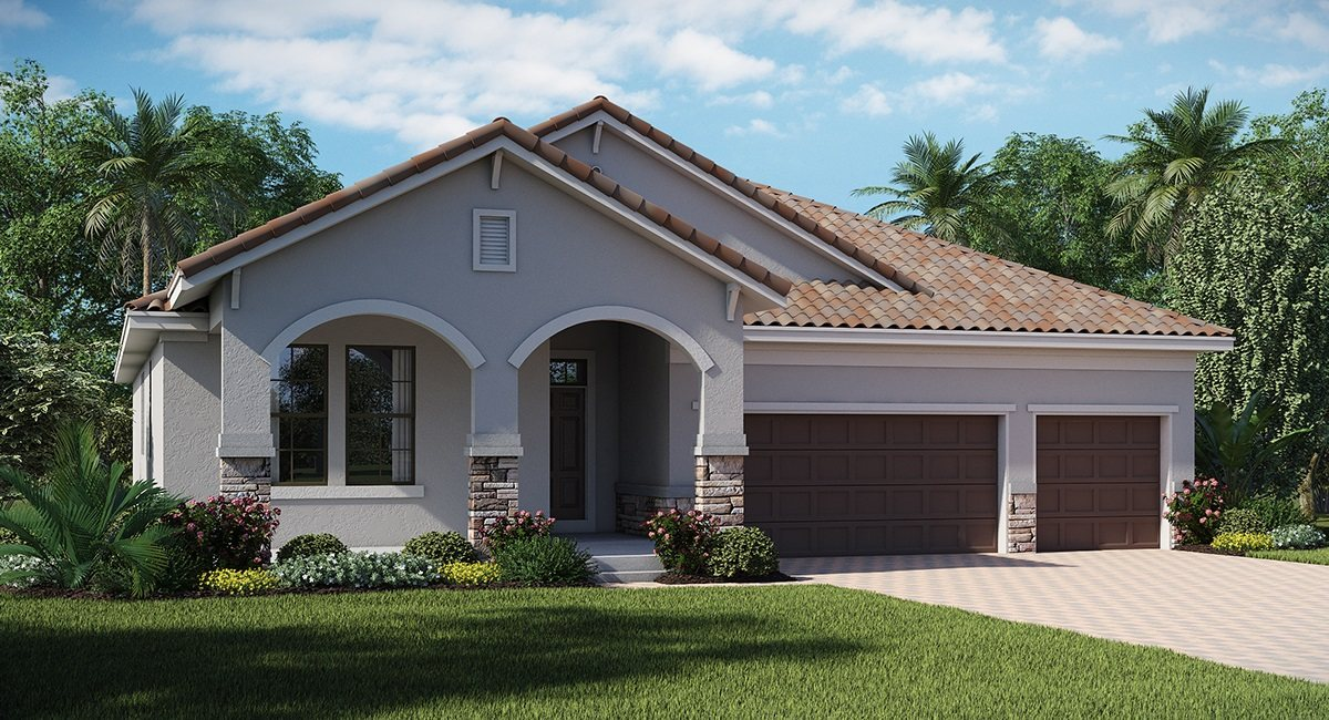 Waterleaf The Grande Cayman 2,588 sq. ft. 4 Bedrooms 3 Bathrooms 3 Car Garage 1 Story Riverview Fl