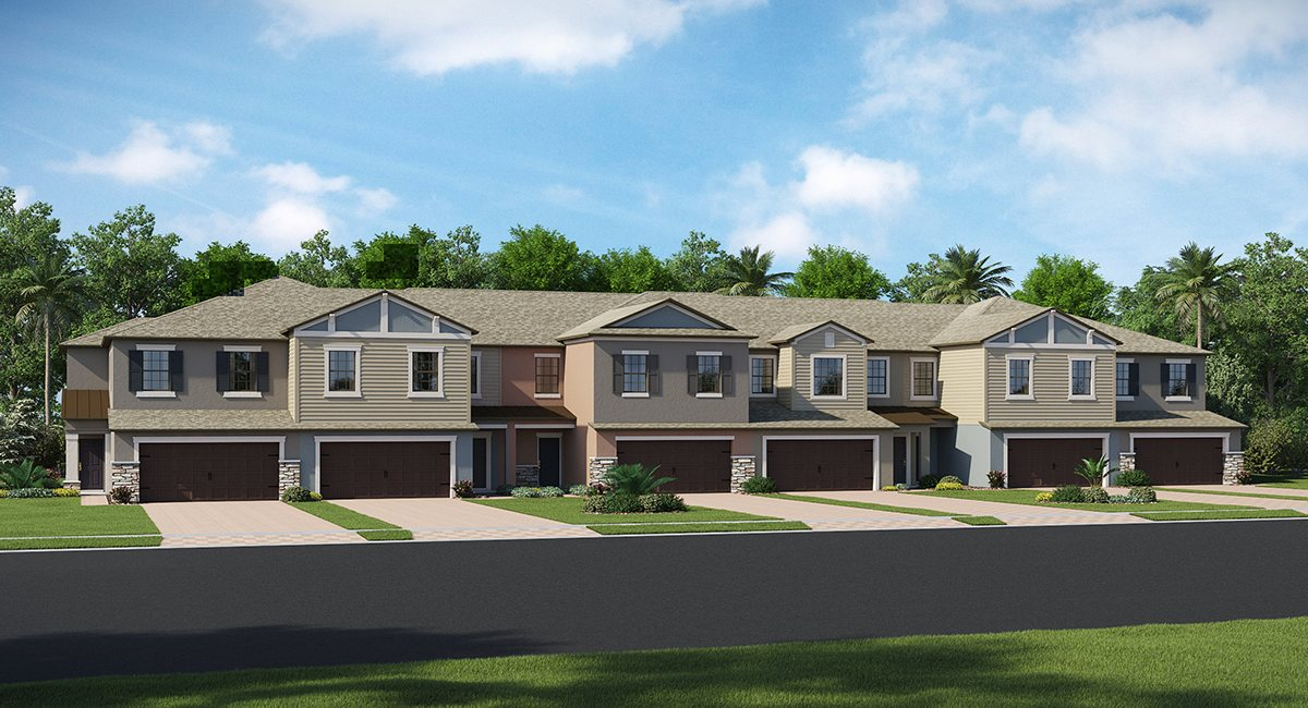 Hidden Oaks Townhomes The Marisol 2,319 sq. ft. 3 Bedrooms 2.5 Bathrooms 2 Car Garage 2 Stories Lutz Fl