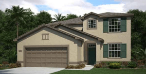 The Mayflower 2529 sq.ft. 4 Bedrooms 3 Bathrooms 2 Car Garage 2 Stories Tampa Florida