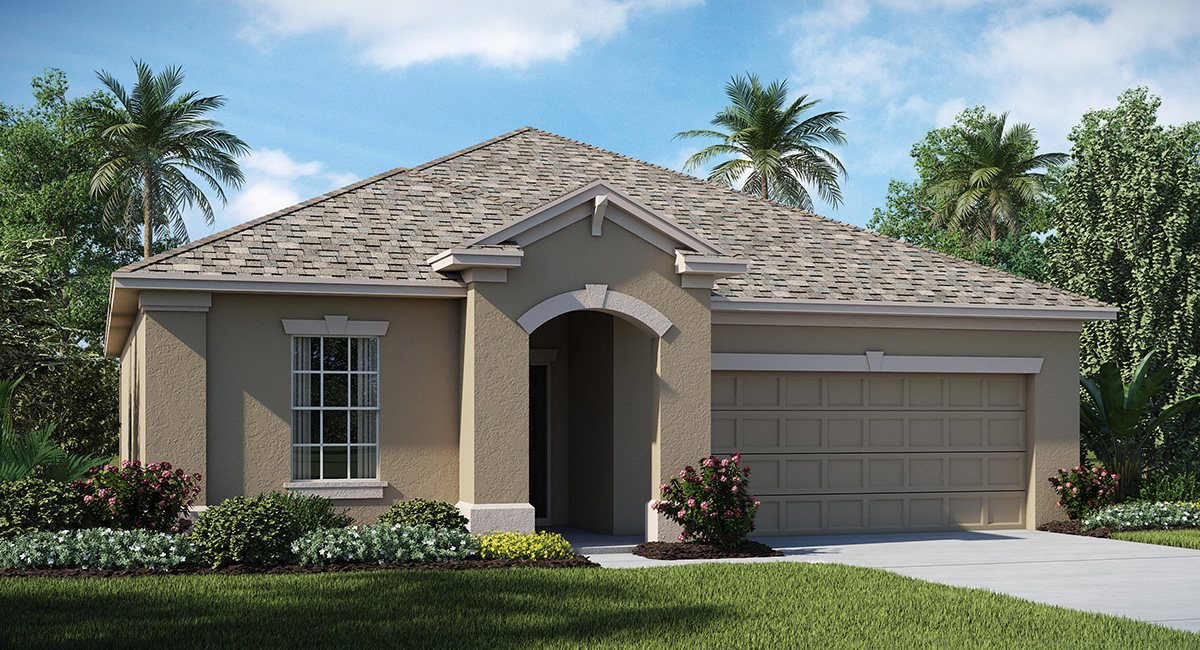 The Oaks at Shady Creek The New Jersey 1,738 sq. ft. 3 Bedrooms 2 Bathrooms 2 Car Garage 1 Story Riverview Fl