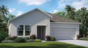 The Oaks at Shady Creek  The New York  1,971 sq. ft. 3 Bedrooms 2 Bathrooms 2 Car Garage 1 Story Riverview Fl