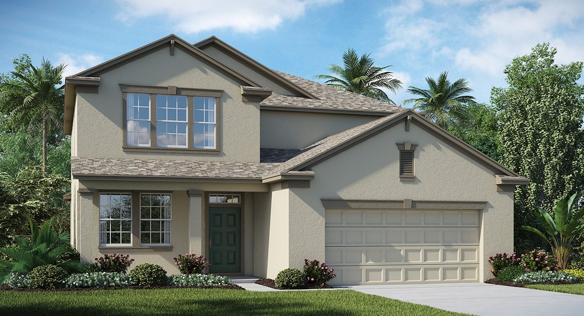 The Oaks at Shady Creek  The Pennsylvania 2,529 sq. ft. 4 Bedrooms 3 Bathrooms 2 Car Garage 2 Stories Riverview Fl