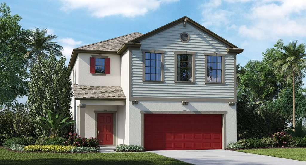 Connerton The Plymouth 2,076 sq. ft. 3 Bedrooms 2.5 Bathrooms 1 Half bathroom 2 Car Garage 2 Stories Land O Lakes Fl