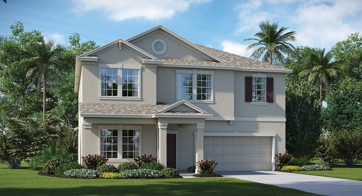 You are currently viewing The Oaks at Shady Creek  The South Carolina 2,947 sq. ft. 4 Bedrooms 2 Bathrooms 1 Half bathroom 2 Car Garage 2 Stories Riverview Fl