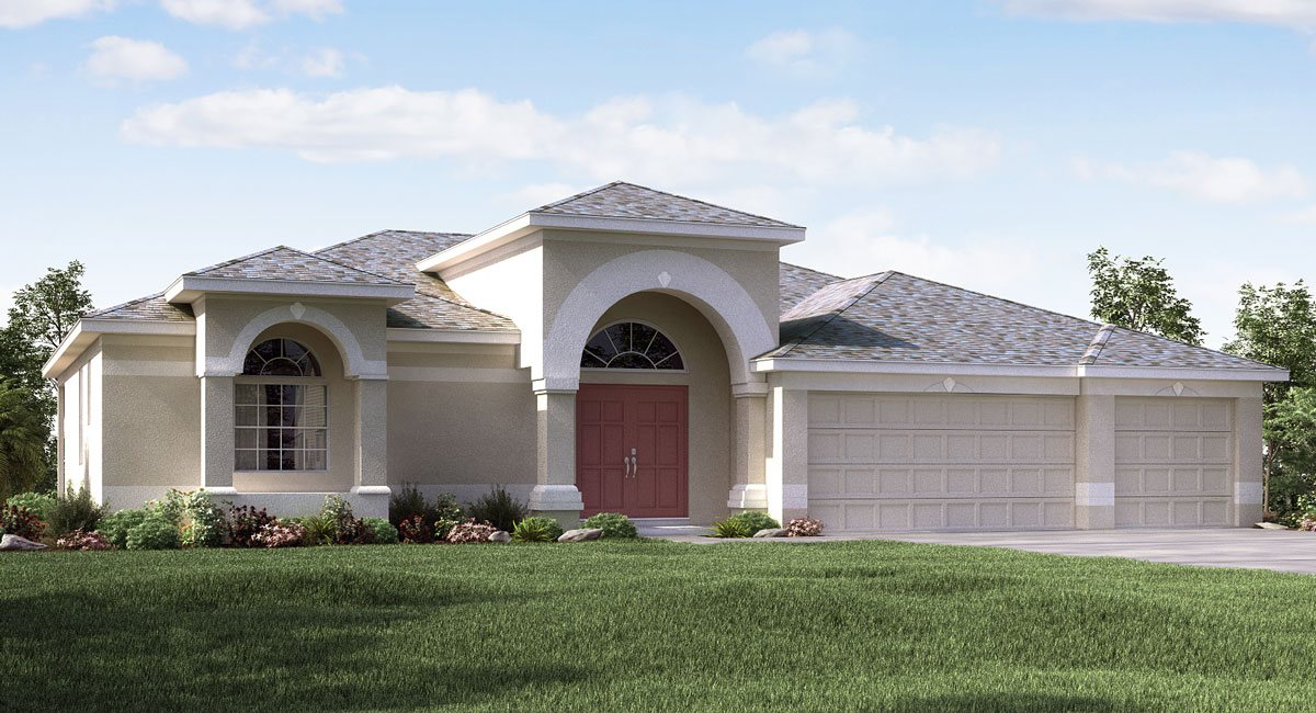 Sereno The Riviera Grande 2,709 sq. ft. 4 Bedrooms 3 Bathrooms 3 Car Garage 1 Story Wimauma Fl