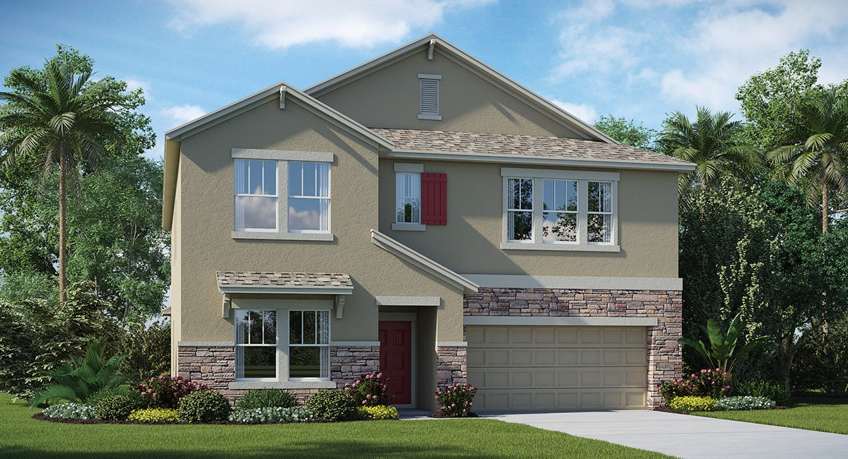 The Oaks at Shady Creek The Virginia 3,777 sq. ft. 5 Bedrooms 3 Bathrooms 1 Half bathroom 3 Car Garage 2 Stories Riverview Fl