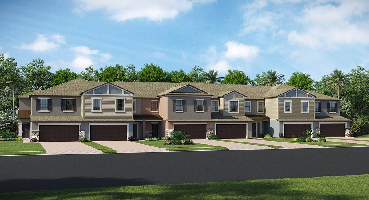The Arbors at Wiregrass Ranch The Capri 1,801 sq. ft. 3 Bedrooms 2 Bathrooms 1 Half bathroom 2 Car Garage 2 Stories Wesley Chapel Fl