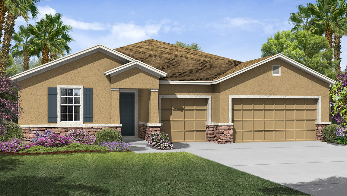 Park Creek The Camden 2,794 square feet 4 bed, 3.5 bath, 3 car, 1 story Riverview Fl