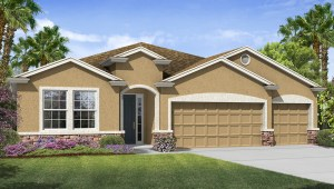 Avalon Park West The Destin 2,368 square feet 4 bed, 3 bath, 3 car, 1 story Wesley Chapel Fl